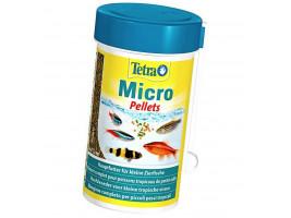 Сухой корм для мелких аквариумных рыб Tetra в гранулах Micro Pellets 100 мл (для всех рыбок)