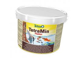 Сухий корм для акваріумних риб Tetra в пластівцях TetraMin 10 л (для всіх рибок)