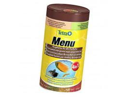 Сухий корм для акваріумних риб Tetra в пластівцях Menu 250 мл (для всіх рибок)