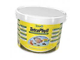 Сухий корм для акваріумних риб Tetra в пластівцях TetraPhyll 10 л (для травоїдних риб)