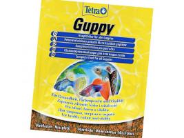 Сухий корм для акваріумних риб Tetra в пластівцях Guppy 12 г (для гуппі)