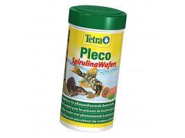 Сухой корм для аквариумных рыб Tetra в пластинках Pleco Spirulina Wafers 250 мл (для травоядных донных рыб)