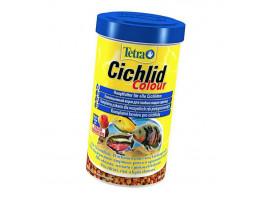 Сухой корм для аквариумных рыб Tetra в гранулах Cichlid Colour 500 мл (для всех цихлид)