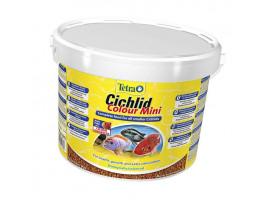 Сухий корм для акваріумних риб Tetra в гранулах Cichlid Colour Mini 10 л (для всіх цихлид)