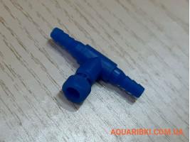 Краник винтовой AQUAXER LEECOM (синий), для регулировки воздуха