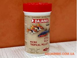 Корм Micro Tropical Pellets 100 ml. Dajana PET