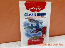 Корм Classic Menu - Granules 40 м Акваріус