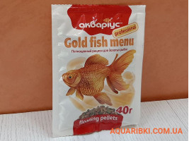 Корм Gold Fish Menu - Floating Pellets 40 г. Аквариус