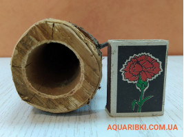 Дерев'яна нерестовий трубка для акваріумних сомів (ясен, дуб, акація) (d14 Україна)