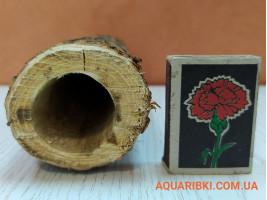 Дерев'яна нерестовий трубка для акваріумних сомів (ясен, дуб, акація) (d15 Україна)
