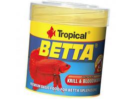 Сухий корм для акваріумних риб Tropical в пластівцях Betta 50 мл (для півників)