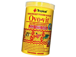 Сухий корм для акваріумних риб Tropical в пластівцях Ovo-Vit 1 л (для всіх рибок)