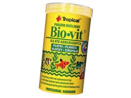 Сухий корм для акваріумних риб Tropical в пластівцях Bio-Vit 500 мл (для травоїдних риб)