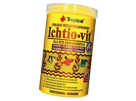 Сухий корм для акваріумних риб Tropical в пластівцях Ichtio-Vit 1 л (для всіх рибок)