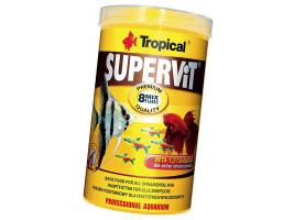 Сухой корм для аквариумных рыб Tropical в хлопьях Supervit 1 л (для всех рыбок)