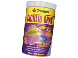 Сухий корм для акваріумних риб Tropical в гранулах Cichlid Gran 1 л (для всіх цихлид)