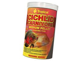 Сухий корм для акваріумних риб Tropical в гранулах Cichlid Carnivore Medium Pellet 1 л (для м'ясоїдних цихлид)