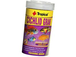 Сухий корм для акваріумних риб Tropical в гранулах Cichlid Gran 100 мл (для всіх цихлид)