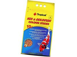 Сухий корм для ставкових риб Tropical в паличках Koi & Goldfish Colour Sticks 10 л (для всіх ставкових риб)