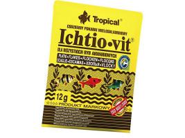Сухий корм для акваріумних риб Tropical в пластівцях Ichtio-Vit 12 г (для всіх рибок)