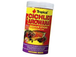 Сухий корм для акваріумних риб Tropical в паличках Cichlid & Arowana Medium Sticks 250 мл (для м'ясоїдних цихлид)