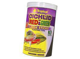 Сухий корм для акваріумних риб Tropical в паличках Cichlid Red & Green Large Sticks 1 л (для всіх цихлид)