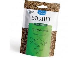 Сухий корм для акваріумних риб Природа в гранулах Биовит супербаланс 25 г (для всіх рибок)